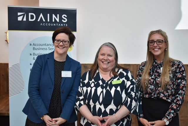 L-r: Jenny Moore (Dains). Sarah Loates (Loates HR Consultancy) and Lauren Bailey (Simpsons Solicitors).